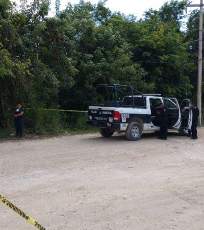 Mientras los policías protestaban en Seguridad Pública de Cancún, en Jardines del Sur se encontró un nuevo ejecutado
