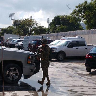DETIENEN A PRESUNTOS SICARIOS EN CANCÚN: Fuerte operativo de protección en la Vicefiscalía para resguardar a los empistolados