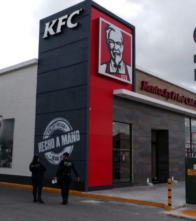 SÓLO FALTÓ LLEVARSE EL POLLO: Entran ladrones a sucursal e KFC en Cancún y atracan la caja fuerte
