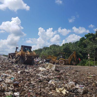 Anuncia Alcalde que en breve iniciarán obras para eficientar el manejo del relleno sanitario de Tulum