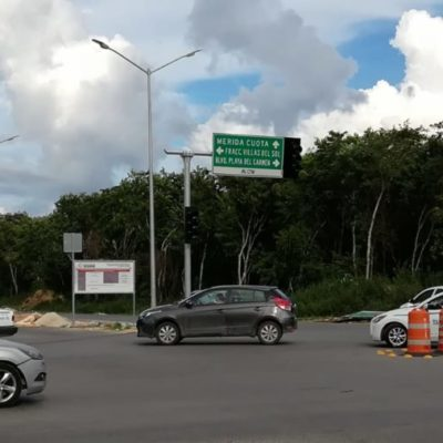 Para evitar accidentes y caos vial, dotarán de semáforos a principales vialidades de Playa del Carmen