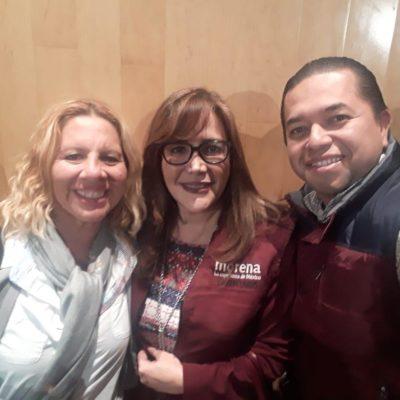 'INDEPENDIENTES' SE DECANTAN POR MORENA: Emiliano Ramos y Sonia López van a encuentro de diputados de AMLO y se toman foto con Yeidckol