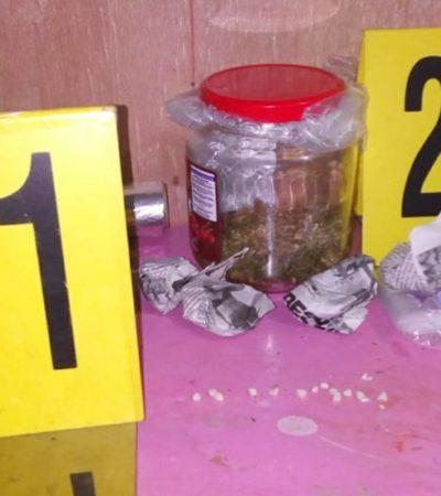 Aseguran casa donde la FGE halló marihuana y cocaína en piedra en la comunidad Subteniente López, a unos kilómetros de Chetumal