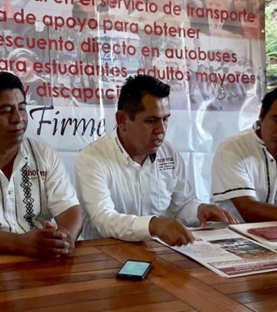 Iniciará Morena recolección de firmas para respaldar iniciativa de modificación del Reglamento de Transporte e implementar descuento del 50% al pasaje de estudiantes en Cancún