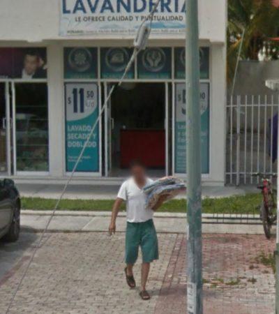 Roban tres uniformes de la Policía Federal de una lavandería de la SM 514 de Cancún