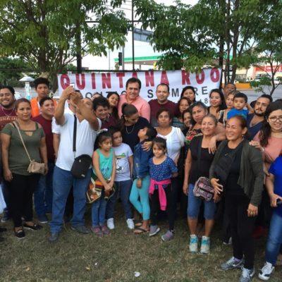 SE VAN A LA 'CARGADA' DEL 'PEJE': Acuden 500 morenistas de Quintana Roo a toma de protesta de AMLO; Mara hasta las bendición les da en Cancún
