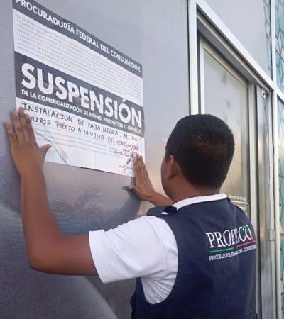 LE CAE PROFECO A AGUAKÁN: Llega personal foráneo para imponer sellos de suspensión a la concesionaria del agua potable en Solidaridad