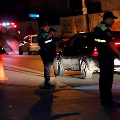 Detienen a cinco por causar zafarrancho en alcoholímetro en Cancún