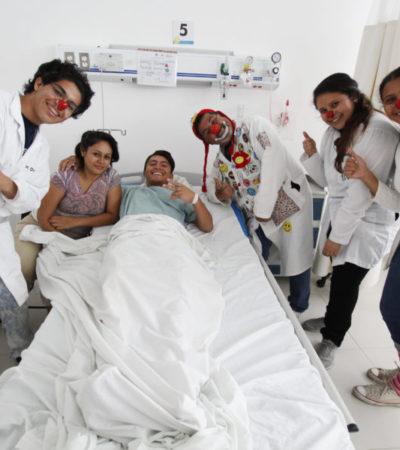 LA RISA COMO AGENTE CURATIVO: Asociación de voluntarios en Cancún recetan terapias de diversión para ayudar a sanar a enfermos