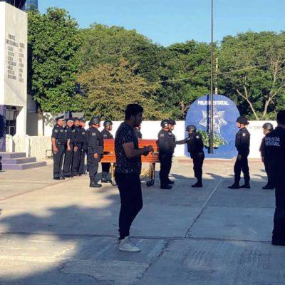 Despiden con honores al policía caído en el sur de Quintana Roo | FOTOS