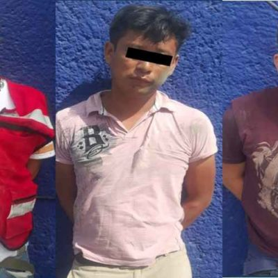 Detienen a tres presuntos presuntos sicarios en la 66 de Cancún
