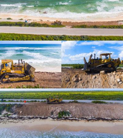 Inicia pavimentación de la carretera perimetral en Cozumel