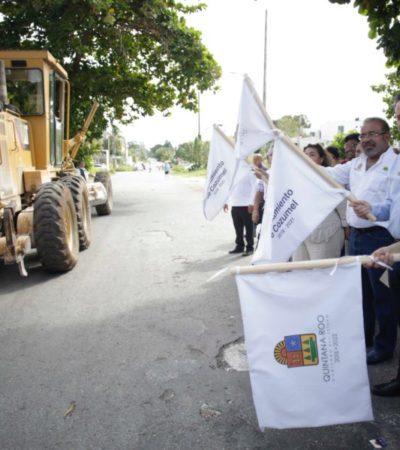 Arrancan rehabilitación de 54 parques públicos y de la calle 13 Sur en Cozumel