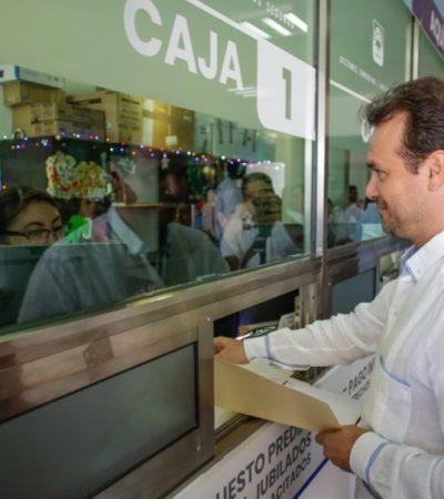 Inicia campaña de descuentos del hasta el 20% por pago anticipado del impuesto predial en Cozumel