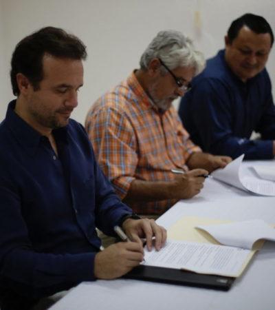 Pedro Joaquín firma convenio de colaboración con colegios de Arquitectos e Ingenieros
