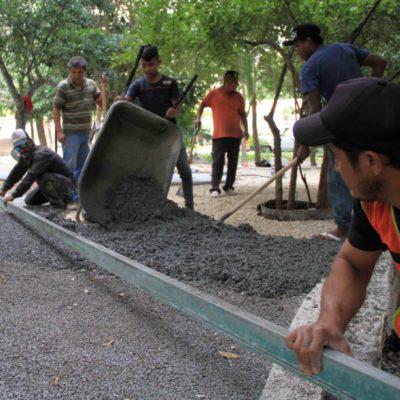 Gobierno de Puerto Morelos invierte más de 6 mdp para la construcción de parques en Villas Morelos I y II