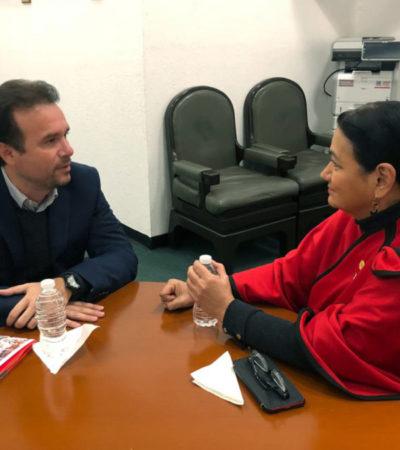 Se reúne Pedro Joaquín con diputados federales y gestiona recursos para Cozumel