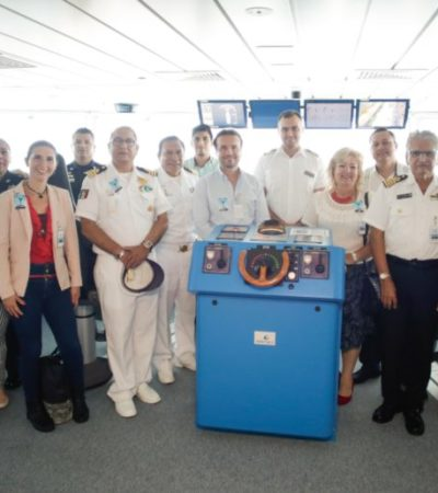 Gobierno de Cozumel da la bienvenida al crucero de lujo 'Celebrity Edge'