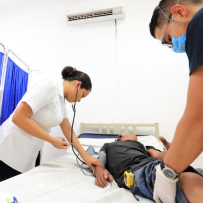 Gobierno de Puerto Morelos implementa programa de salud para sus habitantes