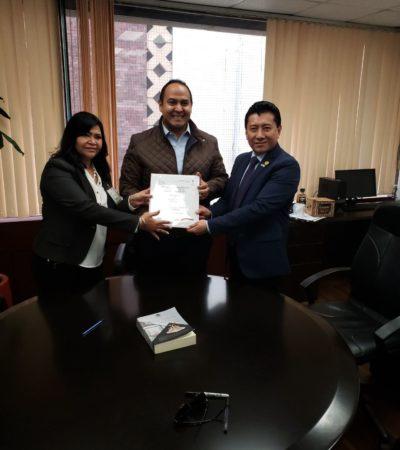 Acude Alcalde de Isla Mujeres al Congreso de la Unión para gestionar recursos
