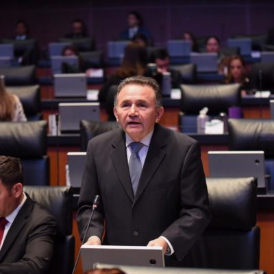 Pide el Senador morenista José Luis Pech que se declare alerta de violencia de género en el municipio morenista de OPB