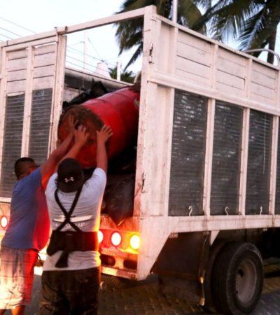 Ayuntamiento de Isla Mujeres garantiza el servicio de recoja de basura en fiestas navideñas y de fin de año