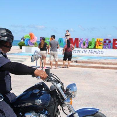 Por periodo vacacional, refuerzan vigilancia en principales puntos de Isla Mujeres