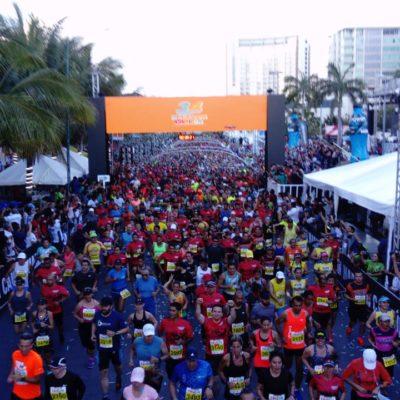 CELEBRAN 34 MARATÓN DE CANCÚN: Participaron más de 4 mil corredores de 40 países