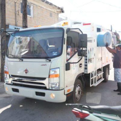 Ponen en marcha el trabajo de recolección de basura con camiones nuevos en Isla Mujeres