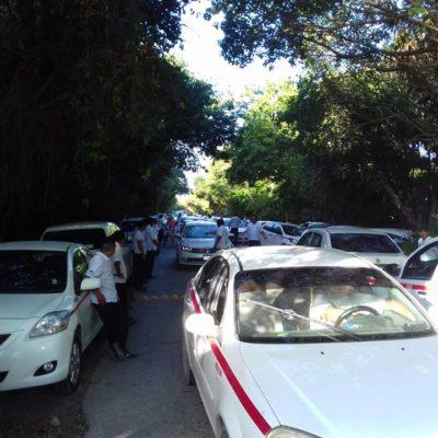 Conflicto entre taxistas y la Conanp queda resuelto tras intervención del ayuntamiento de Tulum