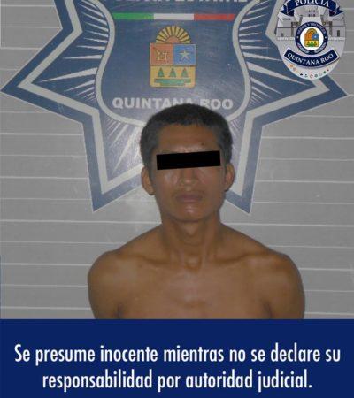 Policía Estatal detiene a hombre por robo en la SM 22