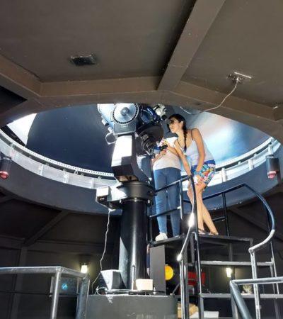 Celebran tres años de divulgación científica del planetario Sayab en Playa del Carmen
