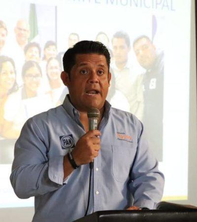 Regidora del PAN en BJ no aceptará entregar la policía municipal al Gobierno del Estado, asegura Eduardo Pacho