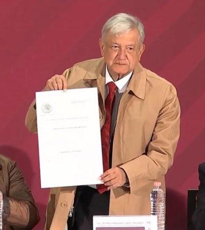 Firma AMLO decreto de estímulos fiscales para la frontera norte; reduce IVA e ISR y aumenta salario mínimo