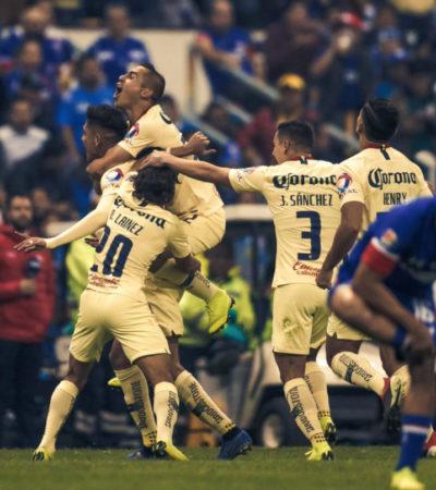 Derrota fácil América a Cruz Azul; ya es el equipo con más campeonatos