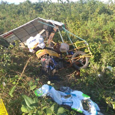 Muere antorchista guadalupano al descarrilarse en un mototaxi; hay tres heridos más, entre ellos dos menores