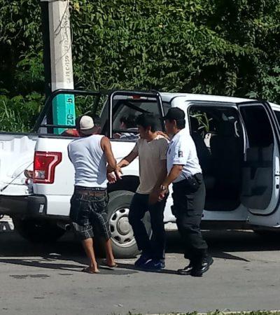 ASÍ LA POLICÍA EN CHETUMAL: Van por asaltantes; se conforman con borrachos