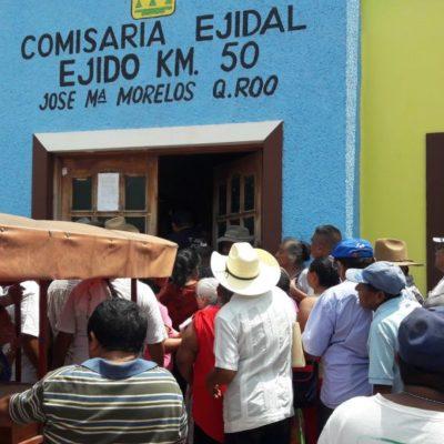 'Revientan' asamblea ejidal en José María Morelos