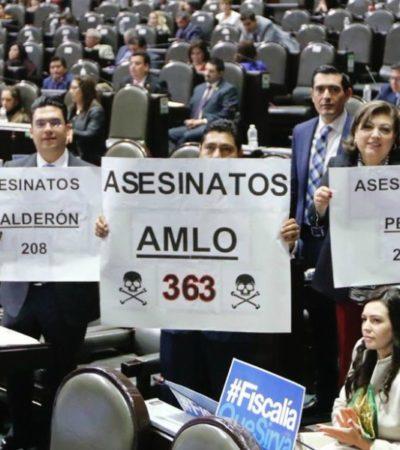Acumula AMLO más asesinatos en sus primeros 10 días que Calderón y Peña, según panistas