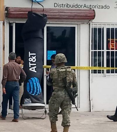 Asaltan tienda de celulares en Chetumal