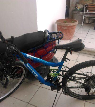 Víctima de robo se ve obligada a retirar denuncia para recuperar bicicleta