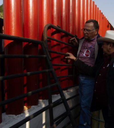 VIDEO | Termina 'secuestro' de ocho horas en San Lázaro; campesinos dejan salir a empleados y dialogan con diputados