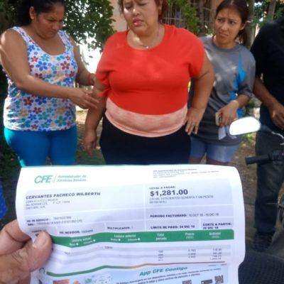 Vecinos de Chetumal se manifestan contra la CFE por altos cobros en las tarifas
