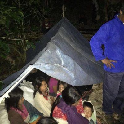 Destruyen campamentos y amenazan a familias desplazadas de Chalchihuitán, Chiapas
