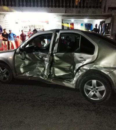 Choque vehicular deja un herido cerca de El Crucero