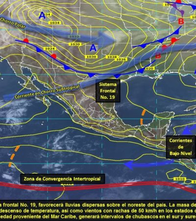 Ligero aumento de temperaturas en Quintana Roo