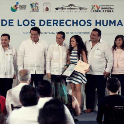 DÍA DE LOS DERECHOS HUMANOS: Llama Congreso a autoridades y sociedad, a luchar juntos por un Quintana Roo libre de violencia