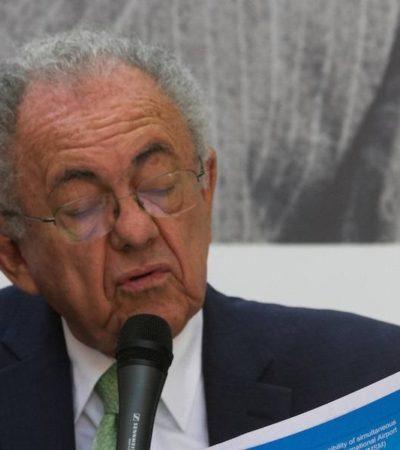 Corrige Jiménez Espriú a Torruco Marqués; habrá vuelos internacionales tanto en Santa Lucía como en el AICM