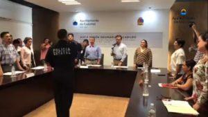 SE SUMA COZUMEL AL 'MANDO ÚNICO': Rinde protesta ante el Cabildo un nuevo jefe policiaco también llegado de Morelos