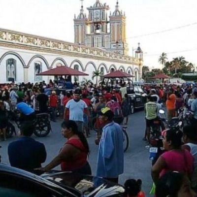 Asesinan a mujer en la oficina parroquial de la Iglesia 'María de la Asunción' en Comalcalco, Tabasco
